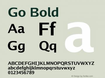 Go Bold Version 2.004; ttfautohint (v1.5) Font Sample