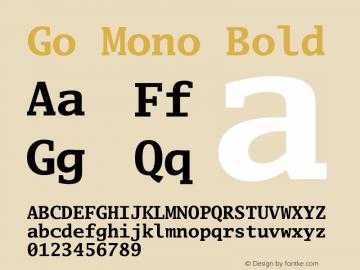 Go Mono Bold Version 2.004; ttfautohint (v1.5) Font Sample