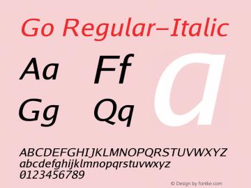 Go Regular-Italic Version 2.004; ttfautohint (v1.5) Font Sample