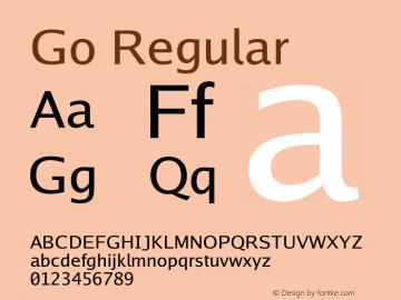 Go Regular Version 2.004; ttfautohint (v1.5) Font Sample