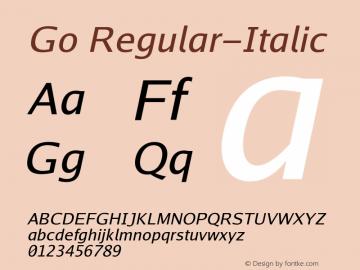Go Regular-Italic Version 2.004; ttfautohint ( Font Sample