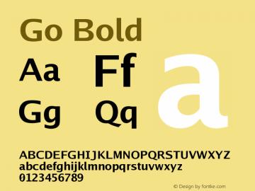 Go Bold Version 2.004; ttfautohint ( Font Sample