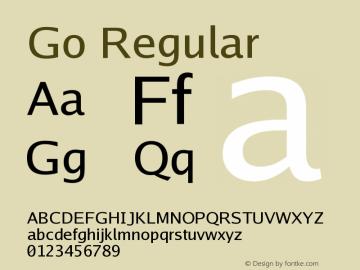 Go Regular Version 2.004; ttfautohint ( Font Sample