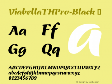 ViabellaTHPro-Black ☞ Version 1.001 2016;com.myfonts.easy.ef.viabellat-h-pro.black.wfkit2.version.4yhi Font Sample