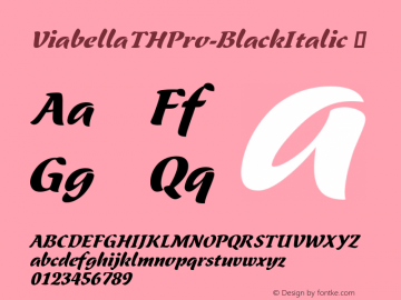 ViabellaTHPro-BlackItalic ☞ Version 1.001 2016;com.myfonts.easy.ef.viabellat-h-pro.black-italic.wfkit2.version.4yhn Font Sample