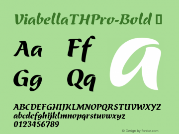ViabellaTHPro-Bold ☞ Version 1.001 2016;com.myfonts.easy.ef.viabellat-h-pro.bold.wfkit2.version.4yhh Font Sample