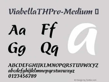 ViabellaTHPro-Medium ☞ Version 1.001 2016;com.myfonts.easy.ef.viabellat-h-pro.medium.wfkit2.version.4yhg Font Sample