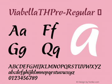 ViabellaTHPro-Regular ☞ Version 1.001 2016;com.myfonts.easy.ef.viabellat-h-pro.regular.wfkit2.version.4yhk Font Sample