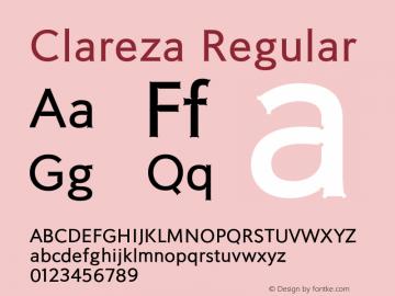 Clareza Regular Version 1.000;PS 001.000;hotconv 1.0.70;makeotf.lib2.5.58329图片样张