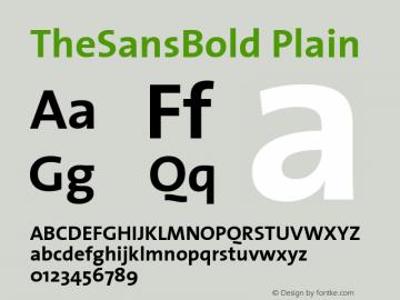 TheSansBold Plain Macromedia Fontographer 4.1 12/26/97图片样张