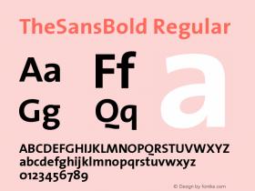 TheSansBold Regular 1.0图片样张
