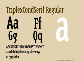 TriplexCondSerif Regular Macromedia Fontographer 4.1 12/22/96 Font Sample