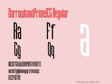 NarrowbandPrimeICG Regular 001.000 Font Sample