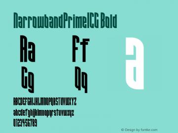 NarrowbandPrimeICG Bold 001.000 Font Sample