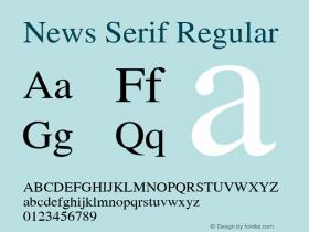 News Serif Regular 001.000 Font Sample