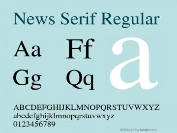 News Serif Regular 001.000图片样张
