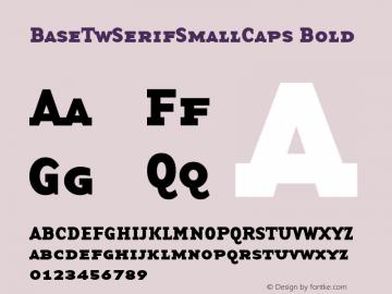 BaseTwSerifSmallCaps Bold Altsys Fontographer 3.5  9/15/97 Font Sample