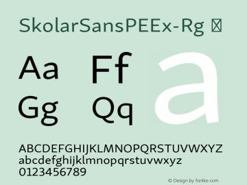SkolarSansPEEx-Rg ☞ Version 2.004;PS 2.003;hotconv 1.0.88;makeotf.lib2.5.647800; ttfautohint (v1.5);com.myfonts.easy.rosetta.skolar-sans-pe.extended.wfkit2.version.4FtL Font Sample