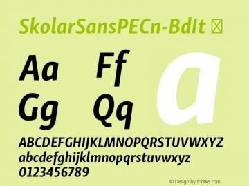 SkolarSansPECn-BdIt ☞ Version 2.004;PS 2.003;hotconv 1.0.88;makeotf.lib2.5.647800; ttfautohint (v1.5);com.myfonts.easy.rosetta.skolar-sans-pe.condensed-bold-italic.wfkit2.version.4FtY Font Sample