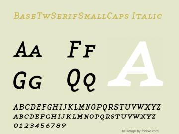 BaseTwSerifSmallCaps Italic Altsys Fontographer 3.5  9/15/97 Font Sample