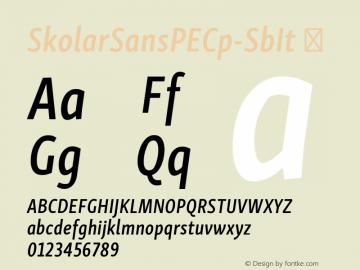 SkolarSansPECp-SbIt ☞ Version 2.004;PS 2.003;hotconv 1.0.88;makeotf.lib2.5.647800; ttfautohint (v1.5);com.myfonts.easy.rosetta.skolar-sans-pe.compressed-semibold-italic.wfkit2.version.4Fv5 Font Sample
