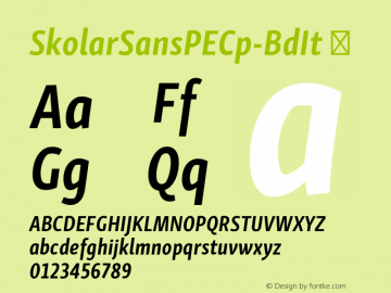 SkolarSansPECp-BdIt ☞ Version 2.004;PS 2.003;hotconv 1.0.88;makeotf.lib2.5.647800; ttfautohint (v1.5);com.myfonts.easy.rosetta.skolar-sans-pe.compressed-bold-italic.wfkit2.version.4FuA Font Sample