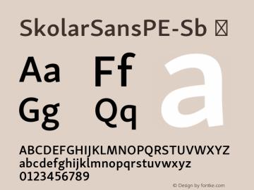 SkolarSansPE-Sb ☞ Version 2.004;PS 2.003;hotconv 1.0.88;makeotf.lib2.5.647800; ttfautohint (v1.5);com.myfonts.easy.rosetta.skolar-sans-pe.semibold.wfkit2.version.4Ftb Font Sample