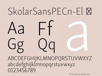 SkolarSansPECn-El ☞ Version 2.004;PS 2.003;hotconv 1.0.88;makeotf.lib2.5.647800; ttfautohint (v1.5);com.myfonts.easy.rosetta.skolar-sans-pe.condensed-extralight.wfkit2.version.4Fu9 Font Sample