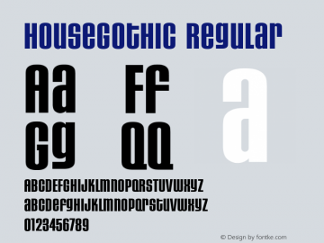 HouseGothic Regular Version 001.000图片样张