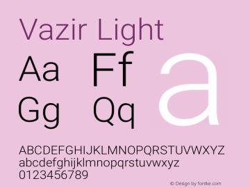 Vazir Light Version 5.0.0 Font Sample