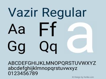 Vazir Regular Version 5.0.0 Font Sample