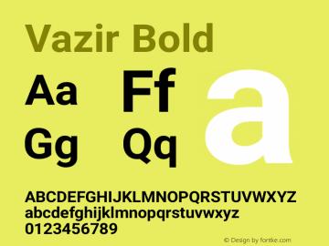 Vazir Bold Version 5.0.0 Font Sample