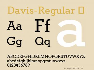 Davis-Regular ☞ Version 1.000;com.myfonts.easy.canadatype.davis.regular.wfkit2.version.4FDy图片样张