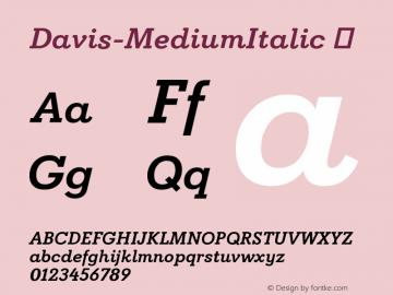 Davis-MediumItalic ☞ Version 1.000;com.myfonts.easy.canadatype.davis.medium-italic.wfkit2.version.4FDw图片样张
