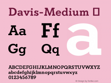Davis-Medium ☞ Version 1.000;com.myfonts.easy.canadatype.davis.medium.wfkit2.version.4FDu图片样张