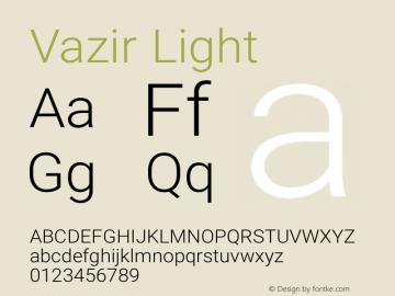 Vazir Light Version 5.1.0 Font Sample