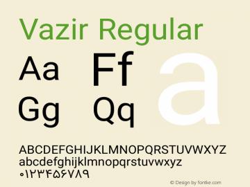 Vazir Regular Version 5.1.0 Font Sample