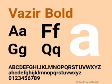 Vazir Bold Version 5.1.0 Font Sample