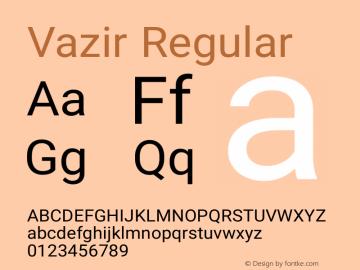 Vazir Regular Version 5.1.1 Font Sample