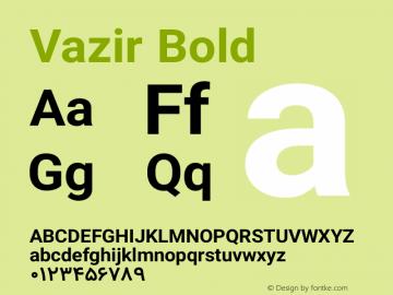 Vazir Bold Version 5.1.1 Font Sample