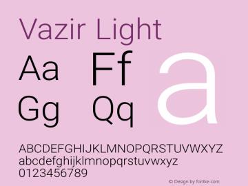 Vazir Light Version 5.1.1 Font Sample