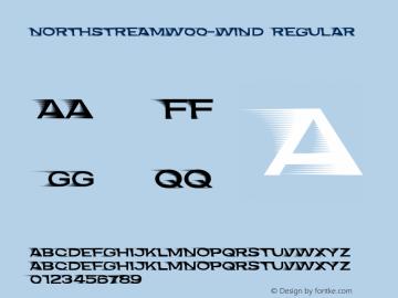 NorthstreamW00-Wind Regular Version 1.00 Font Sample
