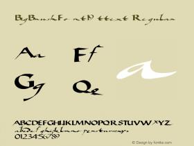 BigBrushFont19 ttext Regular Altsys Metamorphosis:10/28/94 Font Sample