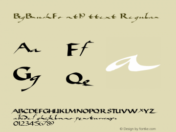 BigBrushFont19 ttext Regular Altsys Metamorphosis:10/28/94图片样张