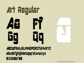 Art Regular Altsys Metamorphosis:11/13/94 Font Sample