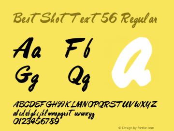 BestShotText56 Regular Altsys Metamorphosis:10/27/94 Font Sample