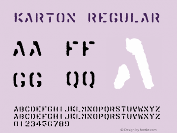 Karton Regular 001.000 Font Sample