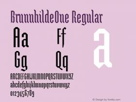 BrunnhildeOne Regular Macromedia Fontographer 4.1 12/27/97图片样张