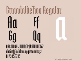 BrunnhildeTwo Regular Macromedia Fontographer 4.1 12/27/97 Font Sample