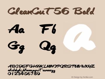 CleanCut56 Bold Altsys Metamorphosis:10/28/94 Font Sample